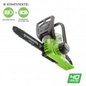 Аккумуляторная Greenworks G40CS30K2 (с АКБ 2 а*ч)