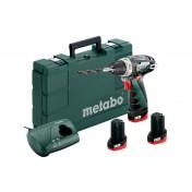 Дрель-шуруповерт Metabo PowerMaxx BS Basic Set 600080960 (с 3-мя АКБ)