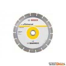 Алмазный круг 230х22 мм универс. сегмент. ECO UNIVERSAL BOSCH (сухая резка) (2608615044)
