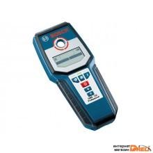 Детектор проводки BOSCH GMS 120 Prof в кор. (металл: 120 мм, дерево: 38 мм, проводка: 50 мм, IP 54) (0601081000)