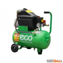 Компрессор ECO AE-251-2 (260 л/мин, 8 атм, поршневой, масляный, ресив. 24 л, 220 В, 1.80 кВт)