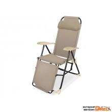 Кресло-шезлонг складное, NIKA (ПРОЕКТ МТ01.03.000) (Цвета в ассортименте) (К3)