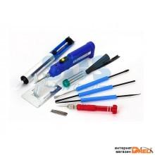 Набор для пайки (паяльник 8 Вт, оловоотсос, подставка, припой, отвертка, интрумент для монтажа) REXA (REXANT) (12-0167)