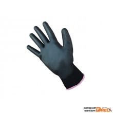 Перчатки нейлон полиуретан. черные размер 10 (ХL) 13кл (PU1350P-BLK)