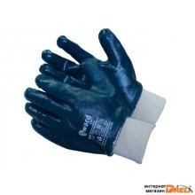 Перчатки нитриловые полн. покр. 11р (трикотажн. манжет) (2202)