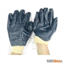 Перчатки нитриловые полн. покр. (трикотажн. манжет) размер №10 STARTUL (ST7170)
