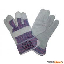 Перчатки спилковые комбинированные (LR560)
