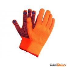 Перчатки утепленные с воросм акриловые с ПВХ точкой (L1301)