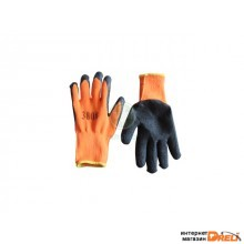 Перчатки утепленные с воросом, латексное покрытие (зимние) (3/4 облив) (H707)