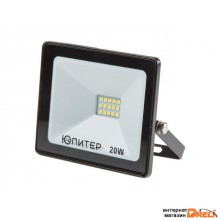 Прожектор светодиодный 20 Вт 6500K IP64 ЮПИТЕР (1600 лм, холодный белый свет) (JP1201-20)