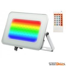 Прожектор светодиодный PFL -RGB-WH  30w  IP65Jazzway драйвер в комплекте (Цветной+ пульт в комплекте, угол освещения 100с) (5012103)