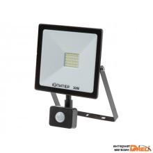 Прожектор светодиодный с датч. движ. 30 Вт 6500K IP64 ЮПИТЕР (2600 лм, холодный белый свет) (JP1202-30)