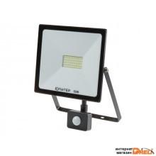 Прожектор светодиодный с датч. движ. 50 Вт 6500K IP64 ЮПИТЕР (4300 лм, холодный белый свет) (JP1202-50)