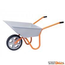 Тачка строительно-садовая ТССР-1ПУ (100л, 120 кг, 1 колесо полиуретан 400х90мм, вес 15 кг) (КОМ)