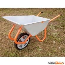 Тачка строительно-садовая ТССР-1 (100л, 120 кг, одноколесная, литая резина 380х70мм, вес 15 кг) (КОМ)