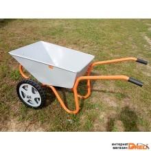 Тачка строительно-садовая ТССР-2 (85л, 180 кг, двухколесная, литая резина 380х70мм, вес 18,5 кг) (КОМ)
