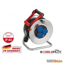 Удлинитель на катушке 25м (3 роз., 3.3кВт, метал. катушка, резин. кабель, с/з) Brennenstuhl Garant (3,3кВт; 3х1,5мм2; степень защиты: IP44) (1198520)