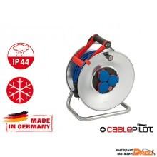Удлинитель на катушке 40м (3 роз., 3.3кВт, метал. катушка, кабель до -35С, с/з) Brennenstuhl Garant (3,3кВт; 3х1,5мм2; степень защиты: IP44) (1199840)
