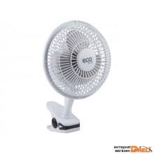 Вентилятор электрический настольный 25 Вт ECO EF-1525C (диаметр 15см; 2 скорости; клипса)