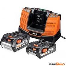 Аккумулятор с зарядным устройством AEG Powertools SET LL1840BL (2) 4932464157 (18В/4 Ah + 12-18В)