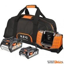 Аккумулятор с зарядным устройством AEG Powertools SET LL18X0BL 4932459167 (18В/2 + 5 а*ч)