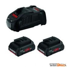 Аккумулятор с зарядным устройством Bosch 2xProCORE 1600A016GF (18В/4 Ah + 14.4-18В)