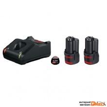 Аккумулятор с зарядным устройством Bosch GBA 12V + GAL 12V-40 Professional 1600A019R8 (12В/2 Ah + 12В)