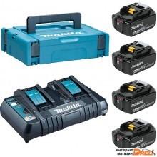 Аккумулятор с зарядным устройством Makita BL1860B + DC18RD (18В/6.0 а*ч + 18В) 198094-8