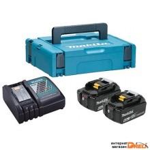 Аккумулятор с зарядным устройством Makita DC18RС + BL1860B (18В/6.0 Ah + 18В) 198118-0