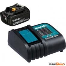 Аккумулятор с зарядным устройством Makita DC18SD + BL1830B (18В/3.0 Ah + 7.2-18В)