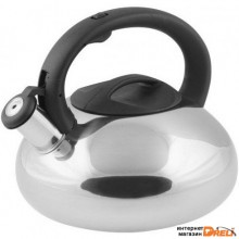 Чайник со свистком, нержавеющая сталь, 2.9 л, серия Ufo, серебристый металлик, PERFECTO LINEA (диаметр 22 см, высота 19.5 см, общий объем изделия 3,0л (52-029018)