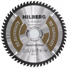 Диск пильный Hilberg Industrial ЛАМИНАТ 185*60Т*30/20 mm HL185