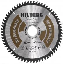 Диск пильный Hilberg Industrial ЛАМИНАТ 190*64Т*30/20 mm HL190