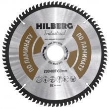 Диск пильный Hilberg Industrial ЛАМИНАТ 200*80Т*30 mm HL200