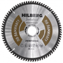 Диск пильный Hilberg Industrial ЛАМИНАТ 210*80Т*30 mm HL210