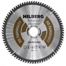 Диск пильный Hilberg Industrial ЛАМИНАТ 216*80Т*30 mm HL216