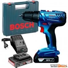 Дрель-шуруповерт Bosch GSR 180-LI Professional 06019F8109 (с 2-мя АКБ, кейс)