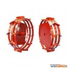 Грунтозацепы (комплект) KF для Oleo-Mac, V-400, V-500 (диам.340мм, шир. 90мм, 3 обруча) (посадочный диаметр 25 мм) (ВРМЗ) (0004230000)