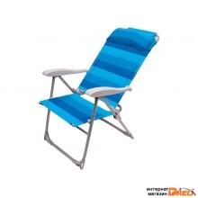 Кресло-шезлонг складное, NIKA (ПРОЕКТ МТ01.02.000) (Цвета в ассортименте) (К2)
