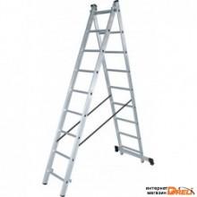 Лестница алюминиевая двухсекционная NV 122, Ступени 2×11 1220211