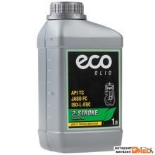 Масло моторное 2-х тактное ECO 1 л (JASO FC,  API TC, ISO-L-EGC;) (OM2-21)