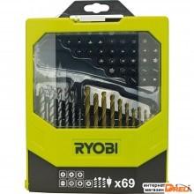 Набор бит Ryobi RAK69MiX (69 предметов)