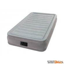 Надувная кровать Twin Comfort-Plush (Твин Комфорт-Плаш), 99х191х33 см, встр. электрич. насос, INTEX (67766)