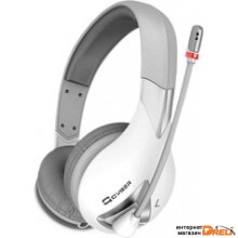 Наушники с микрофоном Qcyber Neon GH-7000 (белый)