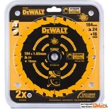 Пильный диск DeWALT DT10302-QZ EXTREME D184 х16 мм 24 WZ по дереву