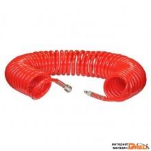 Шланг полиуретановый спиральный 15 М, SKIPER ШП-1015
