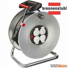 Удлинитель на катушке 25м (4 роз., 3.3кВт, метал. катушка, с/з) Brennenstuhl Garant (3,3кВт; 3х1,5мм2; степень защиты: IP20) (1195056)