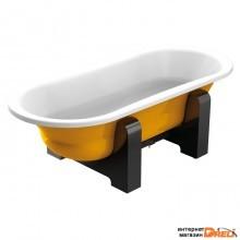 Ванна BLB Duo Comfort Oval Woodline 180x80 (желтый металлик)