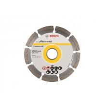 Алмазный круг 115х22 мм универс. сегмент. ECO UNIVERSAL BOSCH (сухая резка) (2608615040)