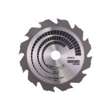 Диск пильный 160х20/16 мм 12 зуб. по дереву CONSTRUCT WOOD BOSCH (переменный зуб) (2608640630)
